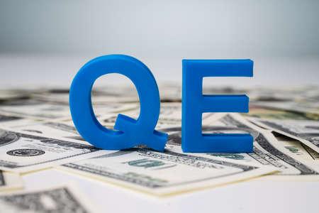 Quantitative Easing Letters On US Dollar Bills