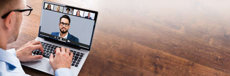 Work From Home Video Conference Call With Team