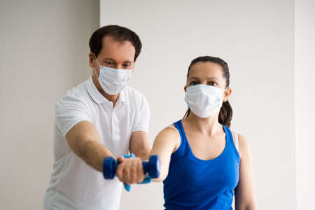 Physio Therapy Physical Trainer In Face Mask
