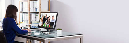 Business Video Conference Call. Online Office Meeting