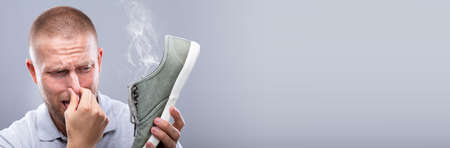 Smelly Shoes. Stinky Feet Sweat. Foot Odor