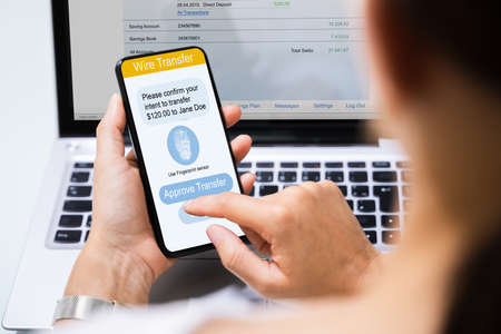 Online Banking Business App On Mobile Phone