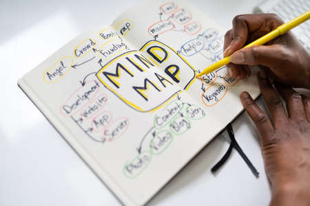 African Woman Using Mind Map For Mindmap Training