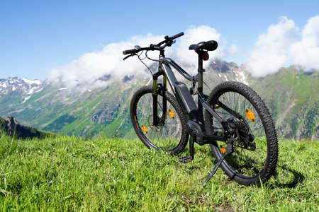 E Bike In Austria. Ebike Cycling In Mountains