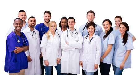 Diverse Doctor And Nurse Group Staff Meeting