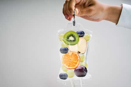 IV Drip Vitamin Infusion Therapy Saline Bag