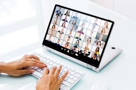 Online Video Conference Webinar Call. Business Meeting