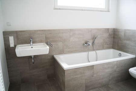 Light Bathroom Appartment Home Interior. Modern Design