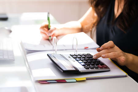 Professional Accountant Woman Doing Accounting Finance Invoice