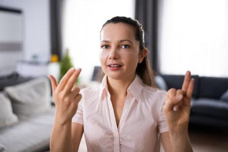 Adult Learning Sign Language For Deaf Disabled