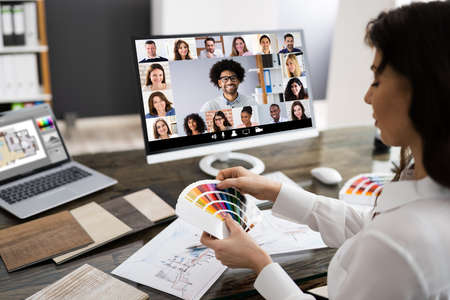 Interior Designer Or Decorator Online Video Conference Call