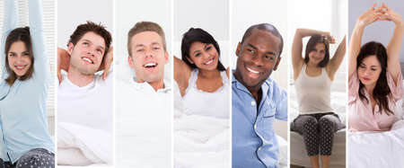 Happy People Wake Up Photo Collage Set