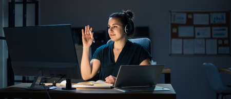 Raising Hand In Online Video Conference Call On Computer