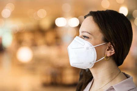 Retail Store Shopping With Coronavirus Ffp2 Face Mask