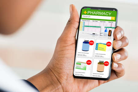 Pharmacy Medicine Online Drug Store. Medical Internet Shop Stock Photo