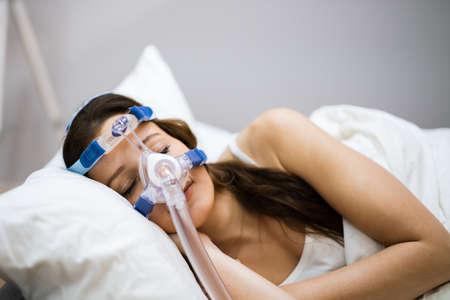 Sleep Apnea Oxygen Mask Equipment And CPAP Machine