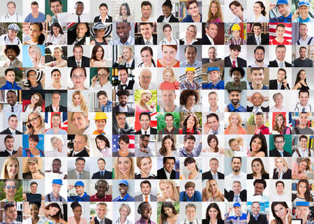 Professional People In Uniform Collage Set Photo