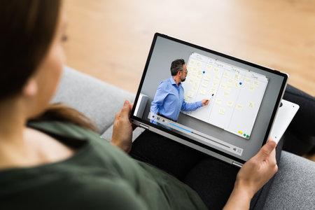 Virtual Online Training Meeting Or Tutorial Webinar Video