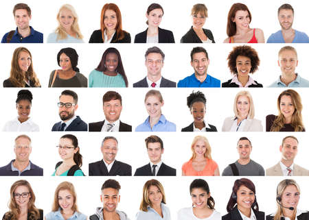 Diverse People Face Or Avatar Portrait Collage