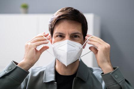 Wearing FFP2 Or KN95 Face Mask Respirator