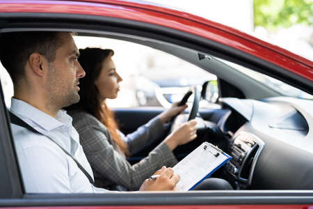 Driving License Lesson Or Test With Instructor