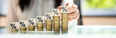 Percentage Sign Discount. Interest Rate And Insurance
