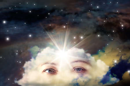 Spiritual Psychic Heal Energy. Reiki Field Light Stockfoto