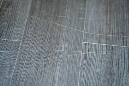 House Old Wooden Laminate Floor Surface Scratch Standard-Bild