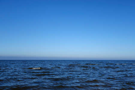 Relaxing seascape with beautiful blue skies. Beautiful background for design