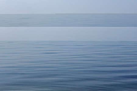Foggy blue sea, beautiful seascape with copy space Stock fotó