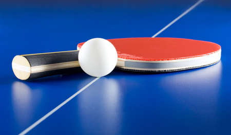 lines game: Equipment for table tennis - racket, ball, table
