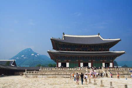 Emperor palace in Seoul  South Korea  Mountain Stock Photo - 12848512