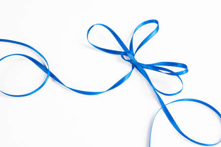 waved: waved blue ribbon isolated on white background