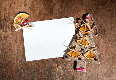 lace up: handmade christmas postcard