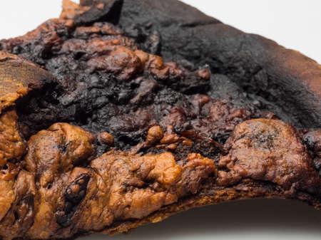 unskilled: closeup burnt slice of pizza