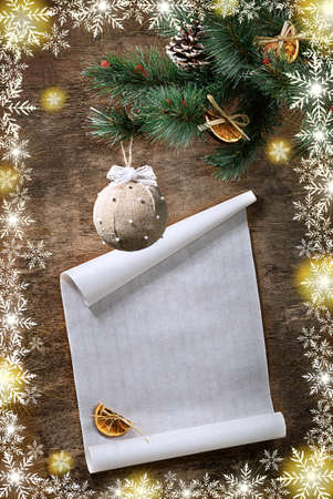 weave ball: new year and christmas postcard Stock Photo