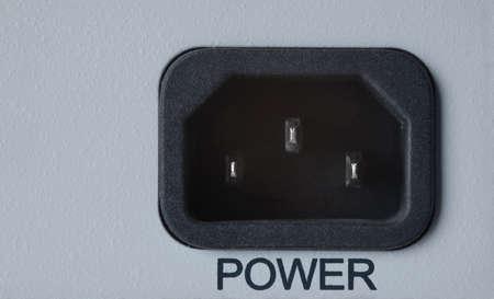 closeup power connector