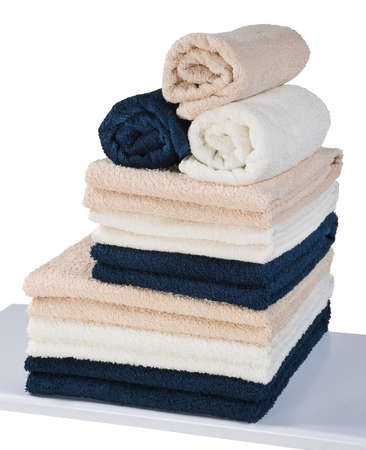 ream of terry towels isolated on white background