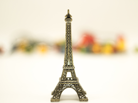 Eiffel tower isolated over the white background. landmark 写真素材
