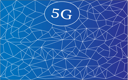 5G Wireless connection. World connection. isolated on blue. New ultra-fast networks with millimeter waves Иллюстрация