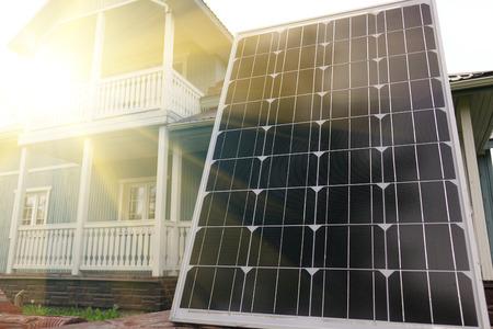 Solar panel. Energy production technologies Stock Photo