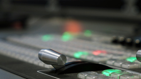 Studio video mixer. Technology on TV. technology. mixer, Studio