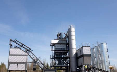 Asphalt concrete plant. Equipment for the production of asphalt, cement and concrete.