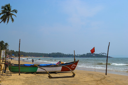incredible: Incredible India. Boat on the beach near ocean