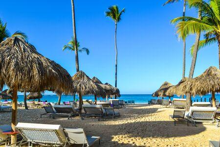 carribean: Travel in Dominican Republic. beautiful carribean beaches