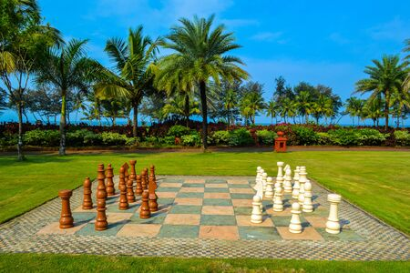 incredible: Incredible India. Gigant chess on the green grass