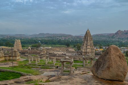 hinduism: Hampi - ancient town and complex of Hinduism Stock Photo