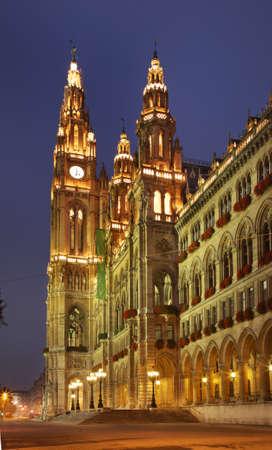 rathaus: Town Hall  Rathaus  in Vienna  Austria