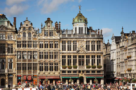 Guildhalls on the Grand Place in Brussels  Belgium     Standard-Bild