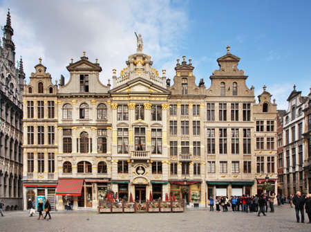 guildhalls: Guildhalls on the Grand Place in Brussels  Belgium     Editorial